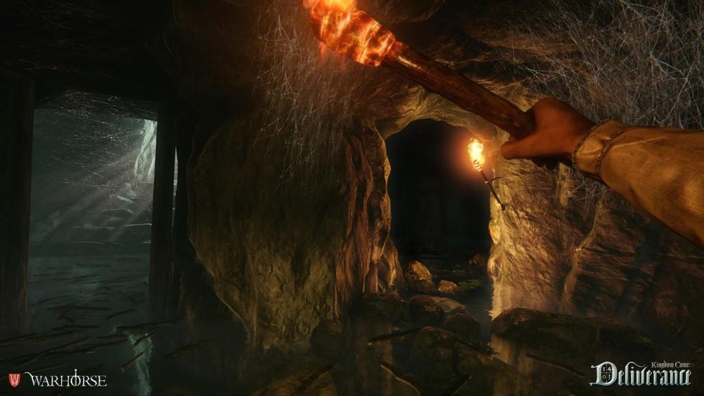 Pochodeň v jeskyni
