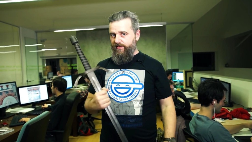 Dan Vávra s mečem